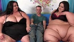 Satisface sexualmente en un trío a dos mujeres obesas